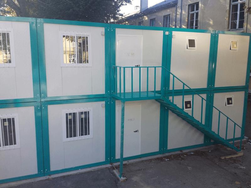 Conjunto de oficinas modulares en reims prefabri africa for Oficinas modulares