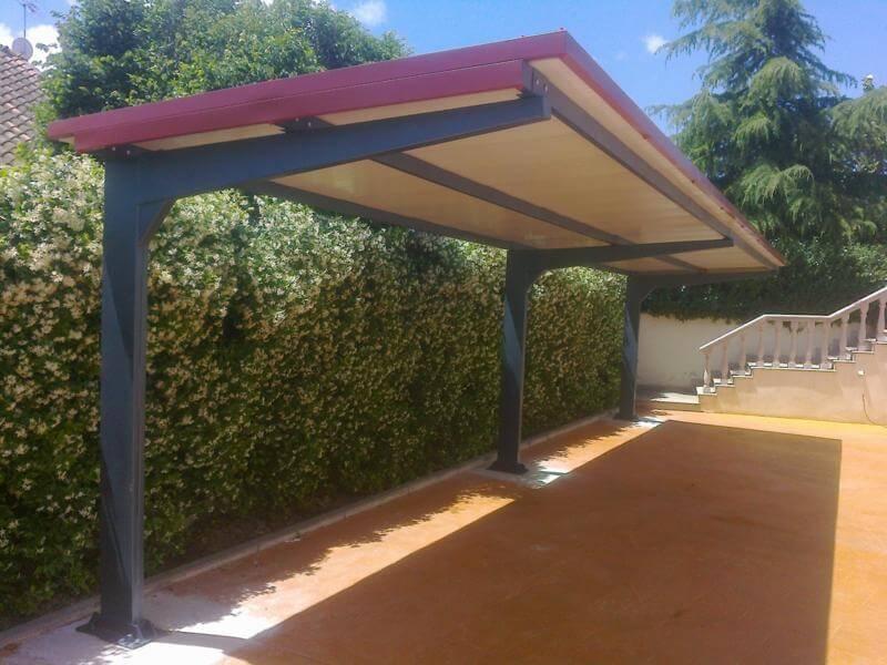 Marquesinas de parking proyectos realizados prefabri africa - Panel sandwich aislante ...