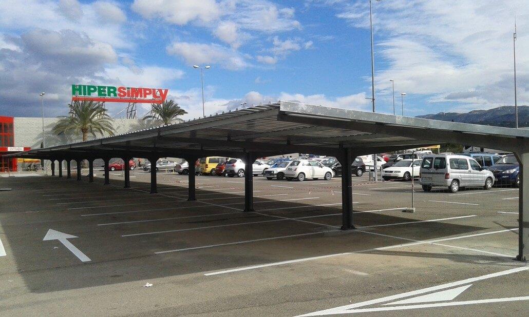 marquesinas de parking para supermercados simply
