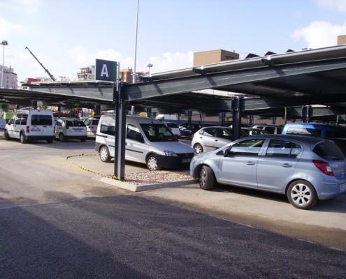 EUROPA PREFABRI- Marquesina de parking ocupada