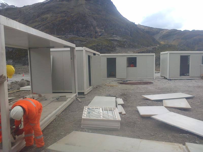 campamentos modulares con oficinas y dormitorios en peru