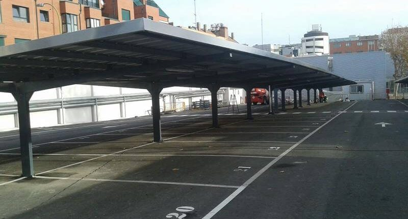 marquesina de parking para bosch en madrid