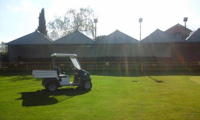 marquesina metalica campo de golf en alcobendas