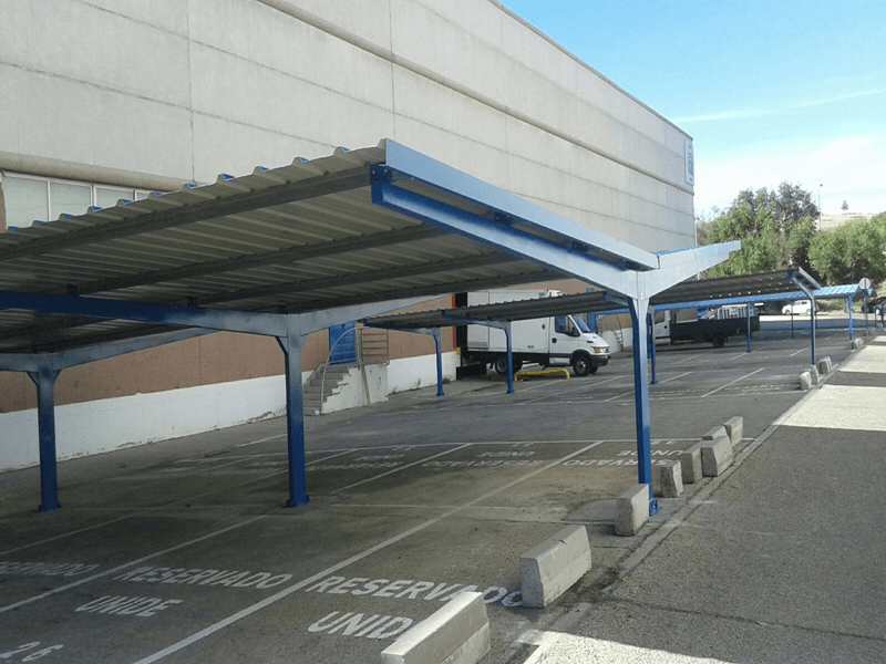 marquesinas de parking en mercamadrid