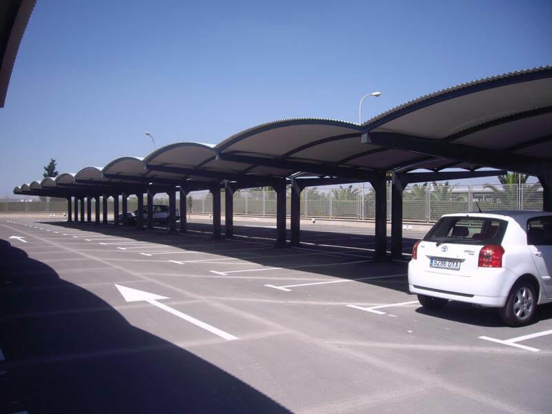 marquesinas de parking para el aeropuerto de san javier en murcia