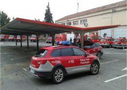 marquesinas de parking policia foral de navarra