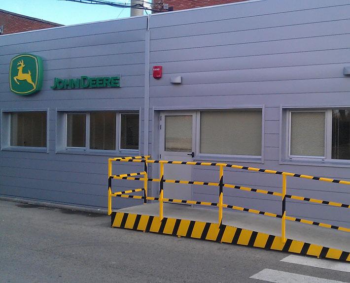 oficinas modulares para john deere en madrid